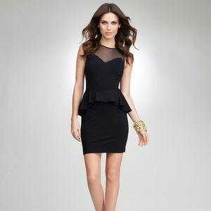 Bebe Stella Black Peplum Dress
